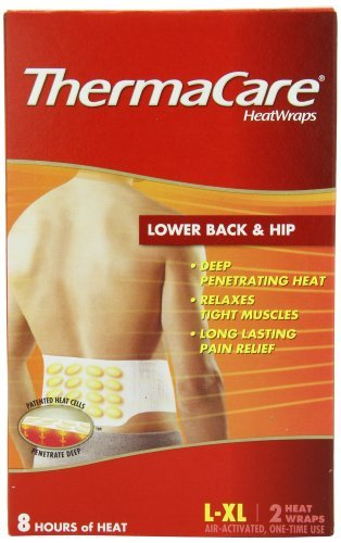 ThermaCare Lower Back & Hip Heat Wraps, Large-XL, 2-Count Boxes (Pack of 9)