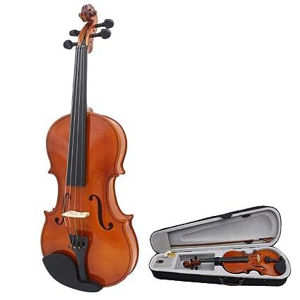 Violin electrico Acabado brillante Hecho a mano 4/4 Tamaño ...