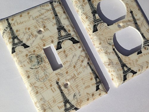 (Paris Eiffel Tower Light Switch Cover - Various Size Light Switchplates Offered)