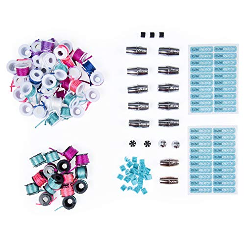 Cool Maker, KumiKreator Mermaid and Dream Fashion Pack 2-Pack Refill, Friendship Bracelet and Necklace Activity Kit