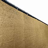 ALEKO PLK0650BEIGE Fence Privacy Screen Outdoor Backyard Fencing Windscreen Shade Cover Mesh Fabric with Grommets 6 x 50 Feet Beige