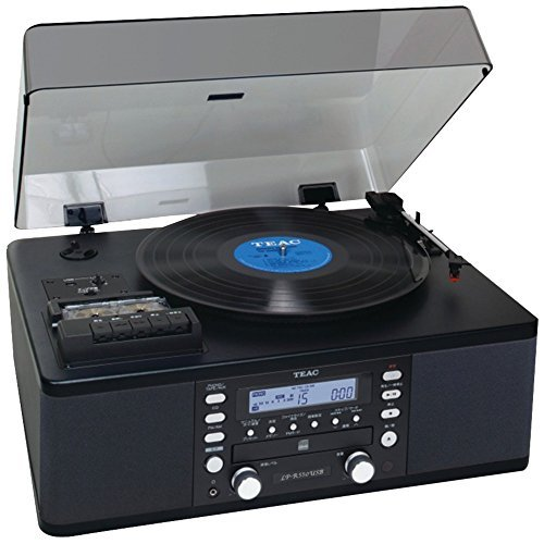 1 - USB Turntable Audio System, Allows easy recording of records, cassettes, radio, & auxiliary audio input to CD-R/RW, User can record LPs, CDs, radio, & cassettes to PC via a USB connection, LP-R550USB-B