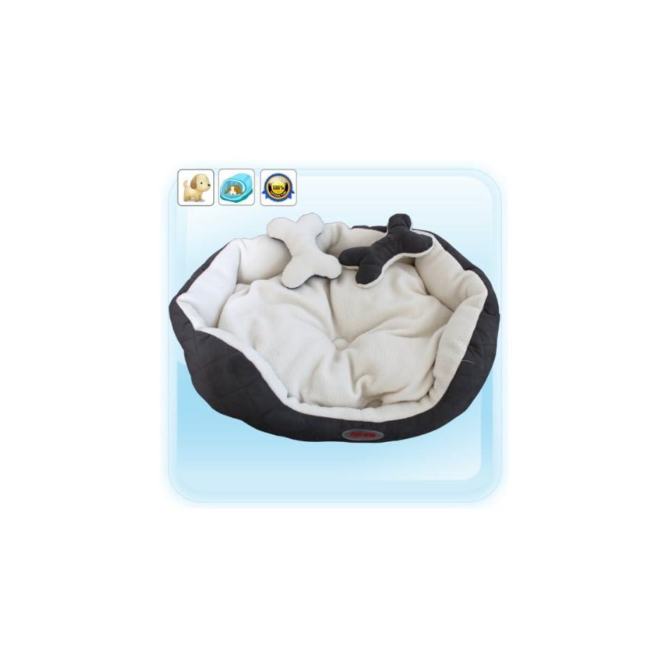 Grey Luxury Warm Unique Soft Pet Dog Cat Puppy Bed, M size