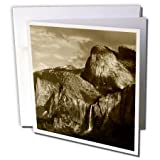 Bridal Veil Falls, Yosemite, California, USA - Greeting Cards, 6 x 6 inches, set of 12 (gc_142542_2)