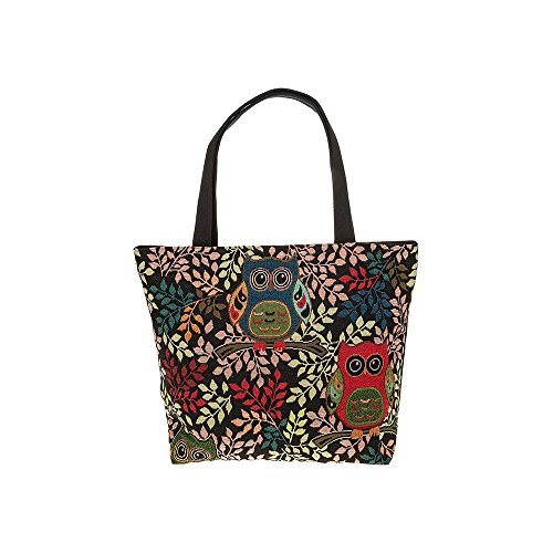 Equilibrium Colourful Midnight Owls Large Tote Bag