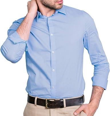 Pierre Calvini - Camisa de negocios para hombre (ajustada, 2 unidades): Amazon.es: Ropa y accesorios