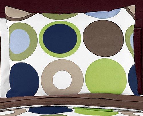 Sweet Jojo Designs 4-Piece Designer Dot Modern Children's and Teen Boys Bedding Set Twin Set