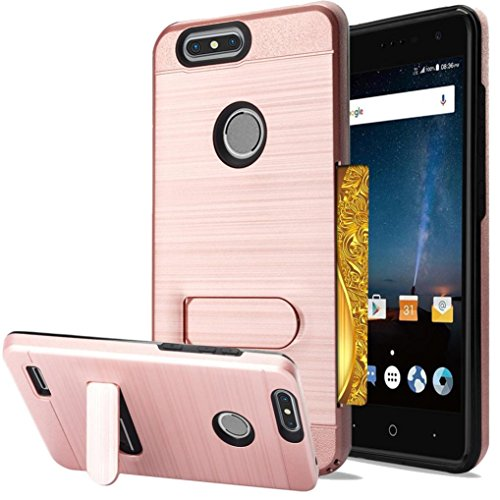 Blade Apparel - Mchoice For ZTE Blade Z Max Case Blade Zmax Pro 2 Case Hybrid Heavy Duty Protective Case (Rose Gold)