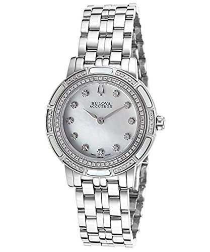 Accutron Ladies Swiss - Bulova Accu Swiss Ladies Diamond Watch 63R139