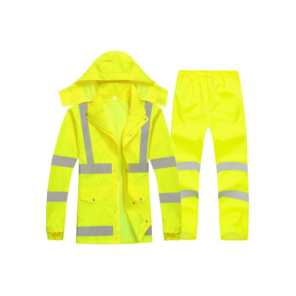 Xinvision Men Waterproof Reflective Stripes Rainsuit Warning Safety Rainwear