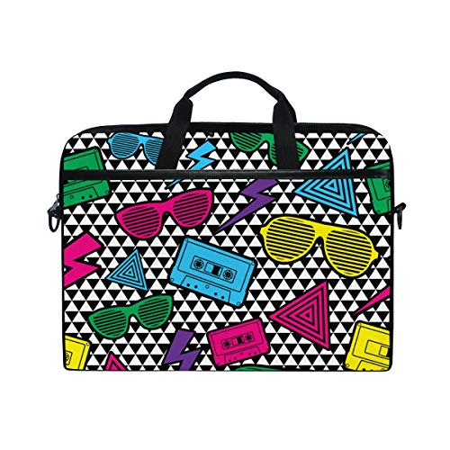 (TARTINY 15-15.4 Inch Laptop Bag New Rave Pattern Shoulder Messenger Bags Sleeve Case Tablet Briefcase with Handle Strap)