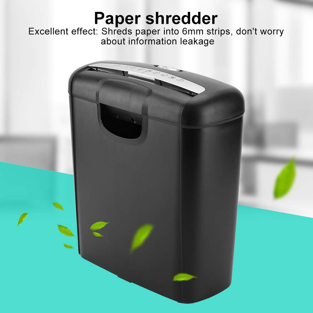 Paper Shredder 220V Home Office Electric Shredder 6-Sheet Strip Cut Paper Shredder Destroy UK Plug for Paper and Credit Card