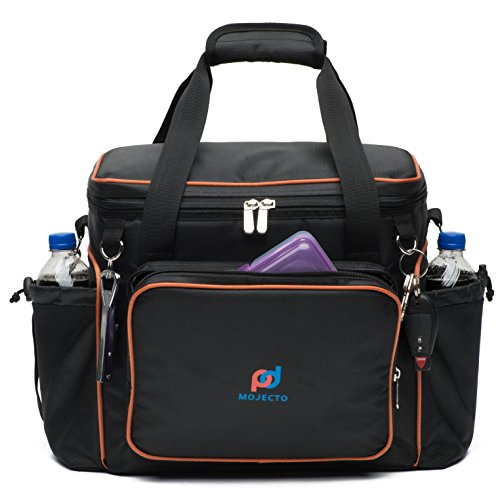 Cooler Bag - Hard Bottom - 14x12.5x9 Inches. 1680D Heavy-Duty Fabric, Thick Insulation, Heat-Sealed Peva Liner, Large Multiple Pockets, Strong Stitching and Zipper, Shoulder Strap with Metal Clips