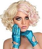 WMU 1181610 Lady Gaga Gloves - Metallic Blue