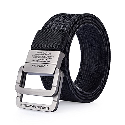 Classic D-ring Belt (ITIEZY Men's Nylon Casual Webbing Belt With D-ring)