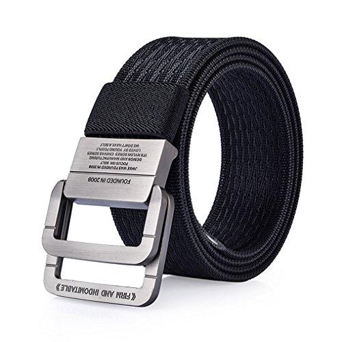 ITIEZY Men's Nylon Casual Webbing Belt With D-ring Buckle