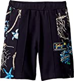 Versace Kids Boy's Shorts w/Sea Shore Design on Sides (Big Kids) Navy 9-10 Short