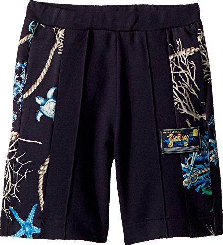 Versace Kids Boy's Shorts w/Sea Shore Design on Sides (Big Kids) Navy 9-10 Short by Versace (Image #1)