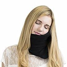 Trtl Pillow - Scientifically Proven Super Soft Neck Support Travel Pillow - Machine Washable - Black