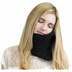 Trtl Pillow - Scientifically Proven Super Soft Neck Support Travel Pillow - Machine Washable Black
