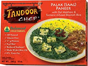 Tandoor Chef Palak Paneer with Dal Makhani and Turmeric-Infused Basmati Rice, 10-Ounce (Pack of 12)
