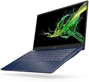 "Acer Swift 5 Ultra-Thin & Lightweight Laptop, 14"" Full HD IPS Touch, 10th Gen Intel Core i7-1065G7, 8GB LPDDR4, 512GB PCIe NVMe SSD, FP Reader, Wi-Fi 6, Back-lit Keyboard, Windows 10, SF514-54T-76PY"