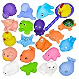 DOUMI 2018 12PCS Baby Cartoon Toys with Sounds Cute Water Funny Toy Swimming Pool Bathroom Bath Toy (Cheap)