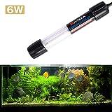 uv lamp filter - Bivisen Submersible UV Sterilizer Light for Aquarium Fish Tank US Plug Waterproof IP68 Sterilizer Lamp Underwater UV Water Cleaner Bacteria-killing for Filter Tank Aquarium (6W Light)