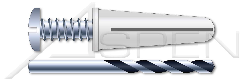 10 pcs Plastic Anchor Kit #6-#8 Conical Bantam