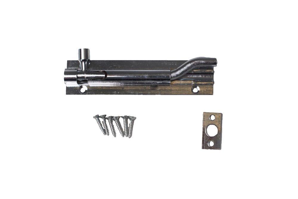 Bulk Hardware bh05671 gekrö pft Schwanenhals Oberflä che Slide Tü rriegel, 150 mm (15,2 cm) –  Chrom Bulk Hardware Limited