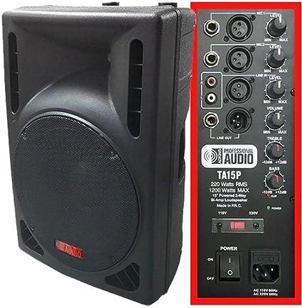 Amazon.com: 1200Vatios, Bocina de DJ –15 ...
