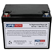 Drypower 12SB50C 12V 50Ah Sealed Lead Acid Replacement Battery with F8 Terminals