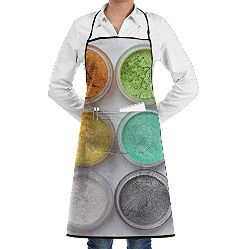 SmallTing Set Of Colorful Mineral Eyeshadows Classic Servers Black One Size Apron With Pockets Adjustable