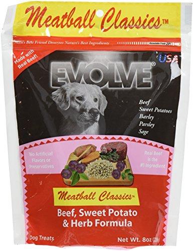 Evolve Meatball Classics Beef, Sweet Potato & Herb Formula Dog Treats, Small