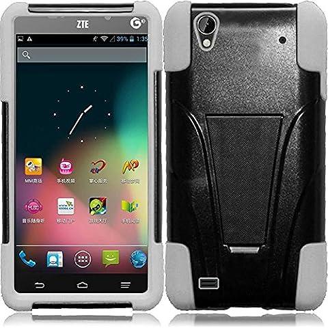 ZTE Quartz Z797c (Straight Talk, Tracfone , Net 10) Case, C-cover ZTE Quartz Z797c Premium Durable Rugged Shell Hybrid Protective Phone Case Cover with Built in Kickstand (Phone Quartz)