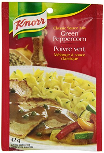 Knorr Classic Sauce Mix, Green Peppercorn, 42 Grams/1.5 Ounces - 3 Pack (Classic Pepper Sauce)