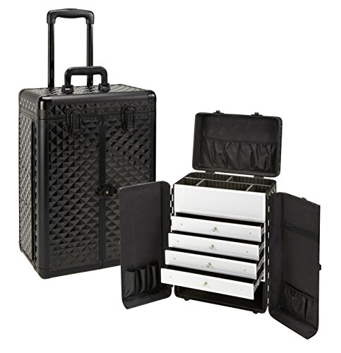 Seya Rolling Makeup Esthetician Case w/ Drawers (Black Diamond) by Seya