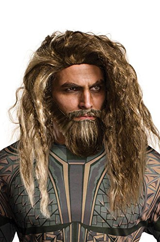 Rubie's Costume Co. Men's Justice League Aquaman Beard and Wig, As Shown, One (Aquaman Adult Costume)