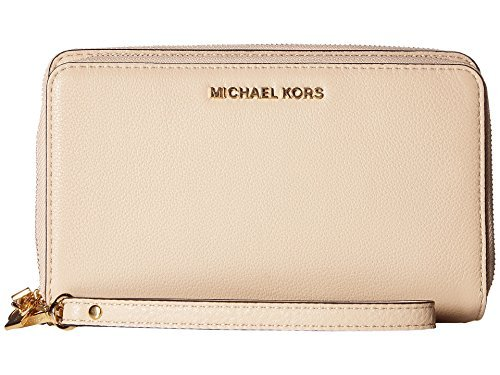 Michael Kors Adele Large Smartphone Wristlet in Oyster Beige by Michael Kors