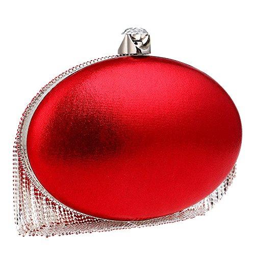 Main Mariage Party Pochette De À Main Femmes Ovale Glitter Red À Nuptiale Gland Clubs Sac Dames Épaule Diamante Sac Cadeau Soirée Pour Sac Prom dTwqxWxC0U