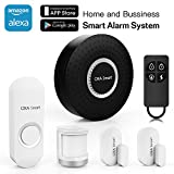 OXA Smart Wifi Home and Business Security Wireless Sensor Alarm system Door Bell DIY Kit with Sensors, Remote or Smartphone APPs Control, Works with Amazon Alexa