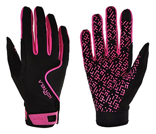 Price comparison product image Panegy Breathable Lycra Touch Screen Full Finger Gloves Outdoor Racing Riding Cycling Gloves Red L