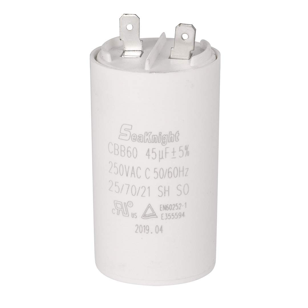 BlueCatELE 45 MFD uF CBB60 Washer Run Capacitor Motor Run Capacitor Compatible for GE WH12X10462