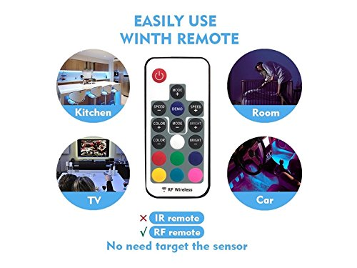 Pullic Portable Lamp TV LED Backlight Strip Lighting Flexible USB LED Strip Lights for Flat Screen TV LCD Desktop Monitors and Kitchen Cabinets with Remote