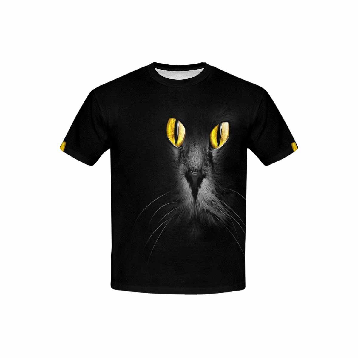INTERESTPRINT Muzzle A Black Cat Face Childs T-Shirt XS-XL