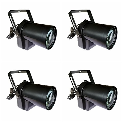 Pin Spot Beam Light 3W LED Min Stage Track Light for Kid's Theater Family Party Wedding Pub Club Show (White 4PCS)