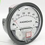 TEREN Mechanical Differential Pressure Gauge, C2000-500Pa, 2.5% Accuracy, Range 0 to 500Pa
