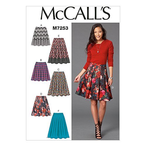 Mccall Pattern McCall's Patterns M7253 Misses' Skirts, A5...