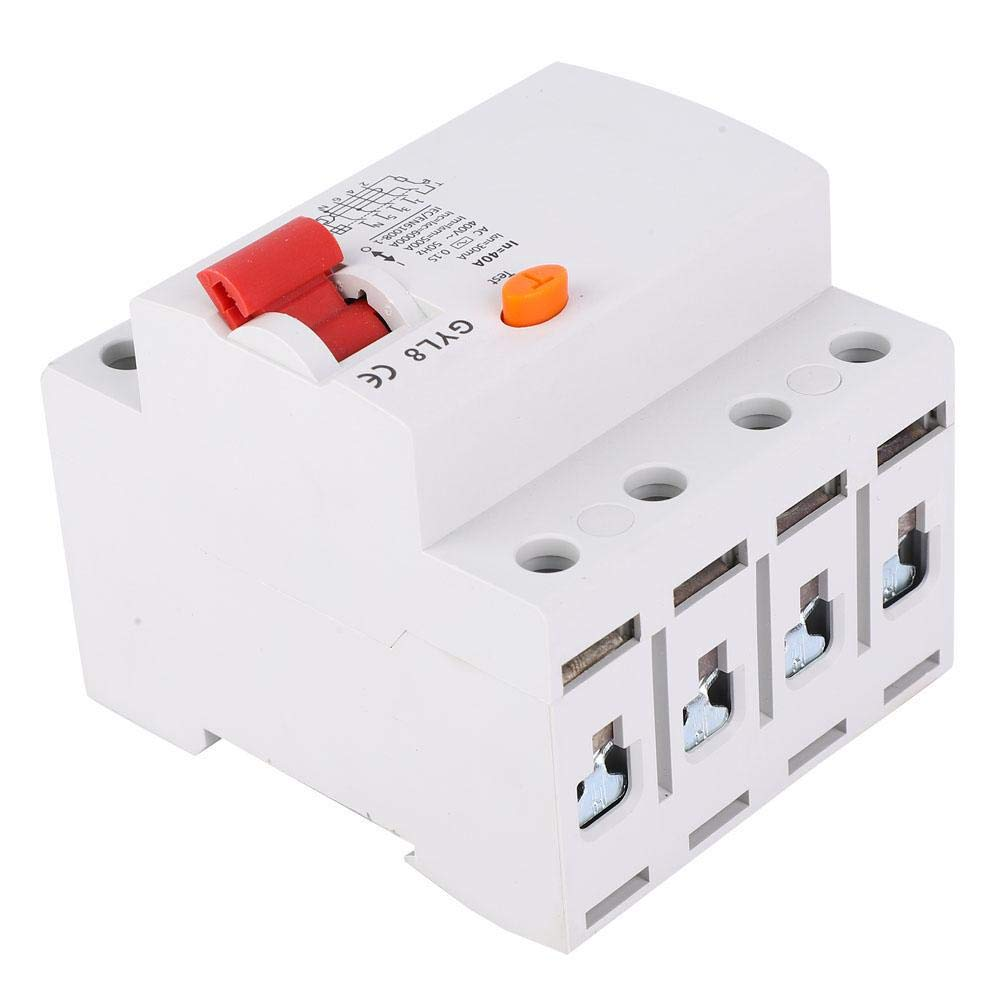 Liukouu GYL8 25//40//63A 4P 400VAC RCCB Residual Current Circuit Breaker Electric Leakage Protection 40A