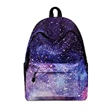 Sky-shop Casual Geometric Unisex Galaxy Pattern School Bag Backpack Rucksack Travel Laptop Book Bag Satchel Hiking Bag(Galaxy)
